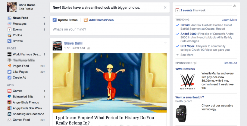 Facebook redesign launches 364 days later