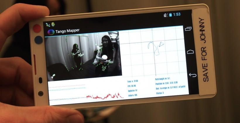 Google Project Tango hands-on: 3D mapping with phones