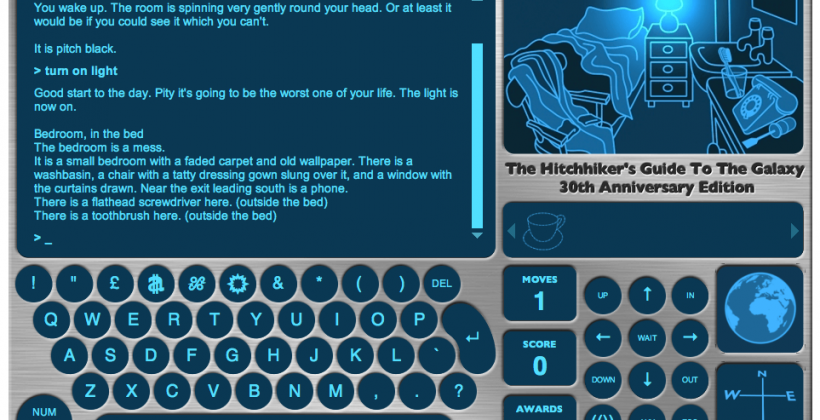 Infamous Hitchhiker's Guide to the Galaxy game reborn in HTML5