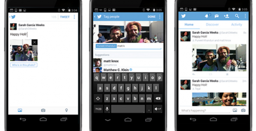 Twitter mobile scores multi-image tweets and photo tagging