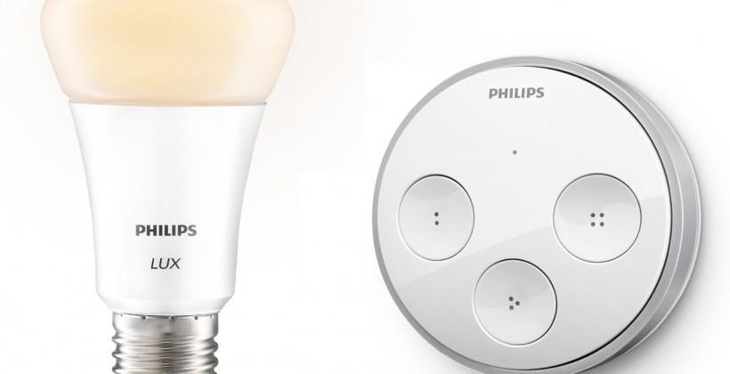 Philips hue tap and hue lux boost smart lighting