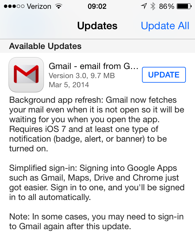 iOS Gmail app gets background sync to cut new mail lag