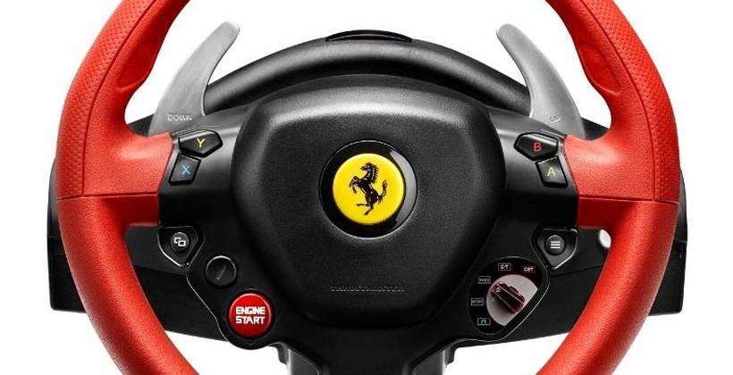 Thrustmaster Ferrari 458 Spider Racing Wheel Supports Xbox One Slashgear