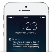 Uber Surge Drop alerts when regular rates resume