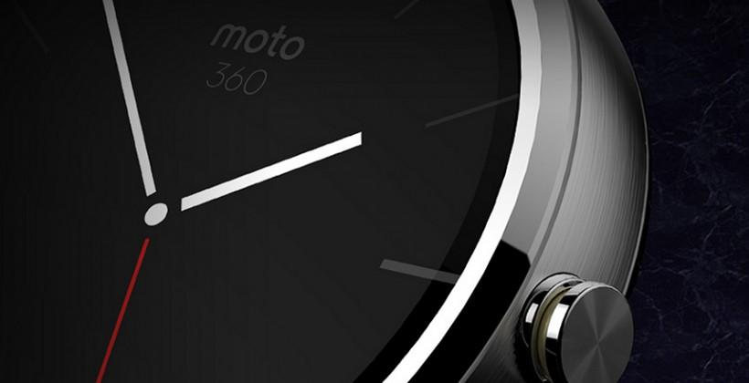 Moto 360 smartwatch detailed as Android Wear first for Motorola