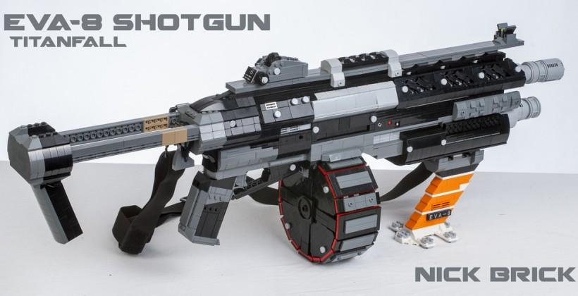 Titanfall EVA-8 Shotgun recreated out of LEGOs