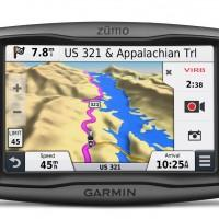 Garmin Zumo 590LM rugged motorcycle nav device has weather and traffic reports