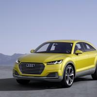 Audi TT offroad concept car sports two electric motors