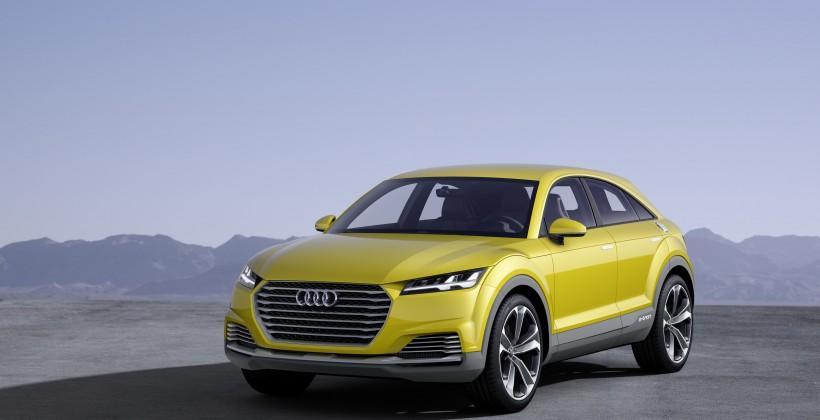 Audi TT offroad concept car sports two electric motors