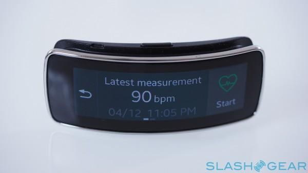 Gear Fit heart rate monitor