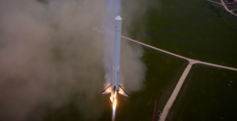 SpaceX shows T9R launch ahead of Dragon mission to ISS