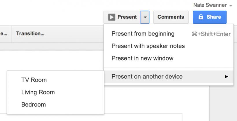 Google Drive presentations get Chromecast support