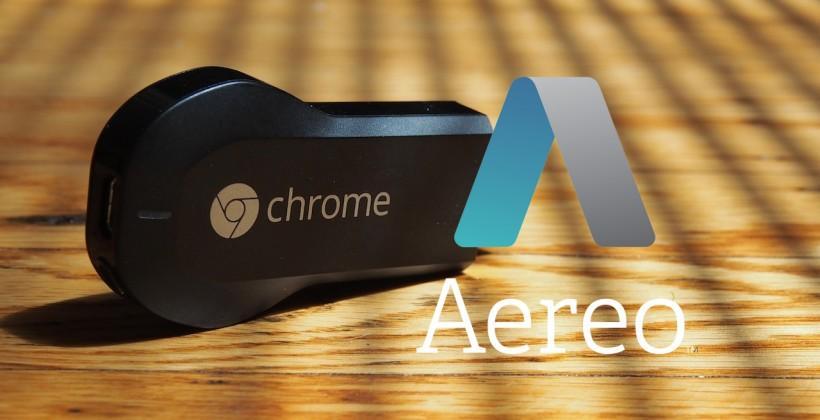 Chromecast gains Aereo: TV streamed to HDMI