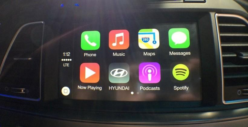 This is Apple CarPlay hands-on in Hyundai's 2015 Sonata