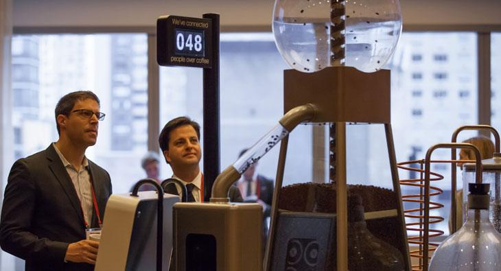 Hellish coffee machine withholds caffeine from the coy