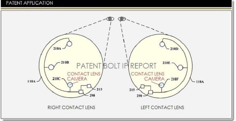 Google patent details smart contact lens-based cameras