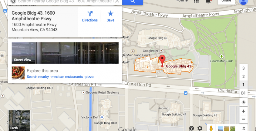 """Google Maps """"search nearby"""" feature re-added"""