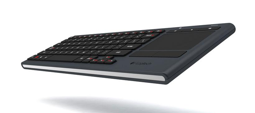 Logitech illuminated K830 keyboard lets you control a HTPC in the dark