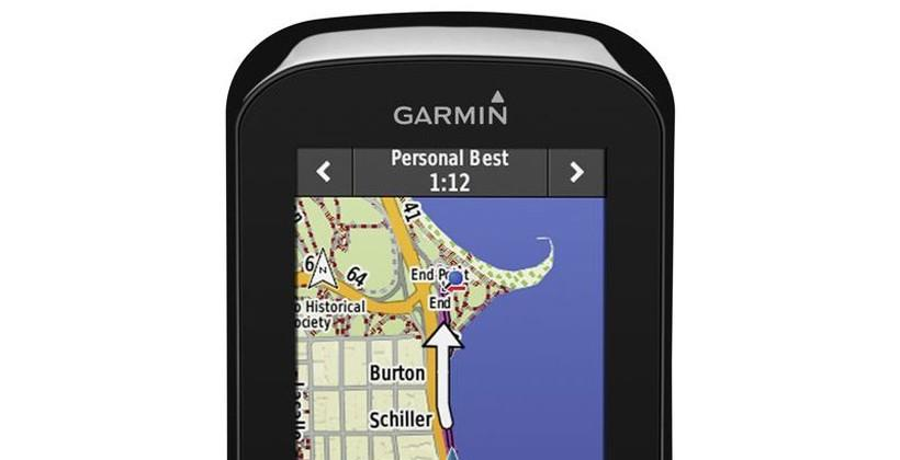 Garmin Edge 1000 cycling computer supports live tracking and advanced segment capability