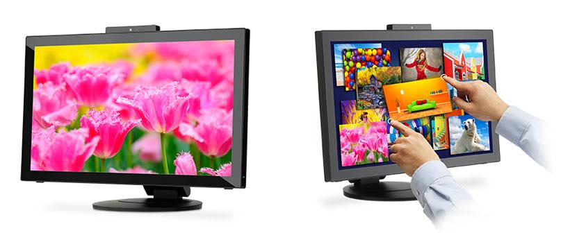 NEC 23-inch LED E232WMT monitor has touch support and HD webcam