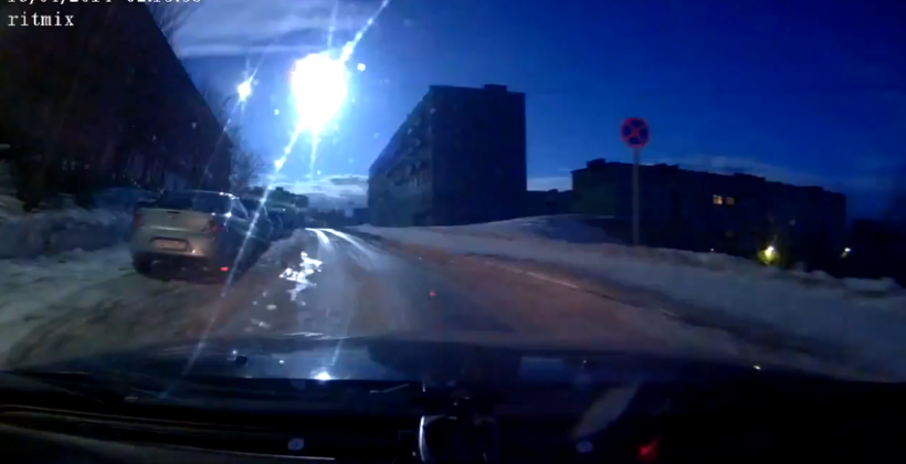 Another Russian meteor caught on camera
