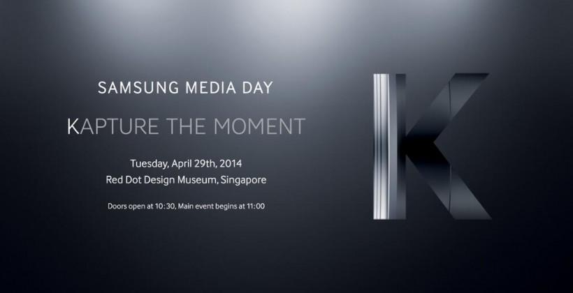 "Samsung set to ""kapture"" the media's attention on April 29"