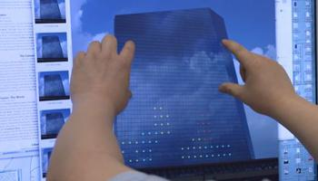 Giant Tetris played on two sides of Philadelphia skyscraper