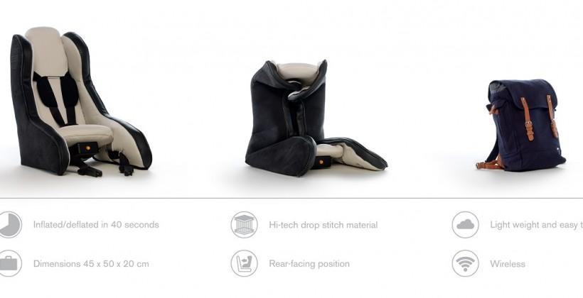 Volvo Inflatable Child Seat Concept is lighter than most at 10lbs