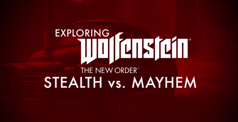 Wolfenstein gameplay trailer details mayhem vs stealth