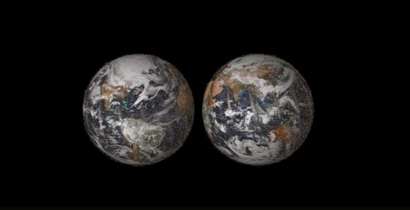 NASA makes Earth art from 36k selfies
