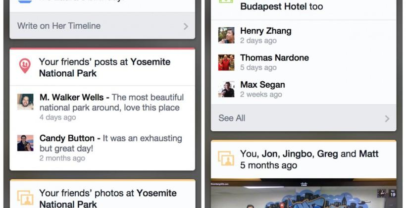 Facebook rolling out new card-based activity updates