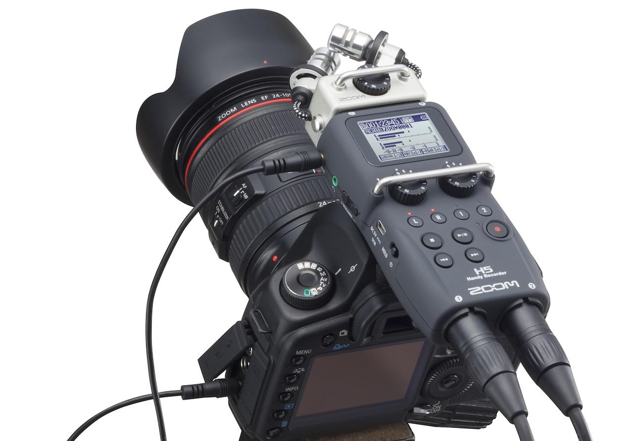 Zoom H5 Handy Portable 4 Track Interchangeable Digital Recorder System