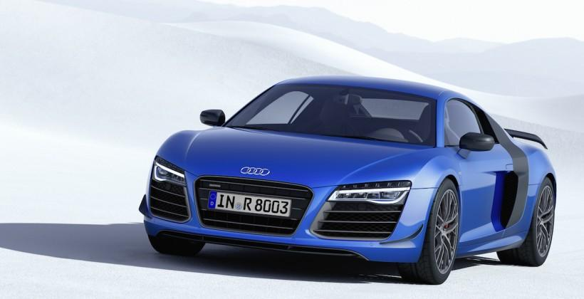 Audi R8 LMX starts laser battle with BMW i8
