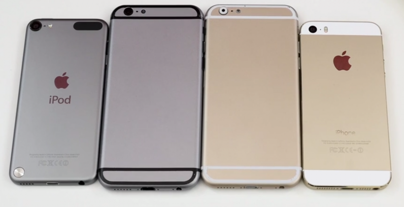 New iPhone 6 video shows dummy units with current iPhone/iPod