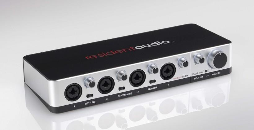 Resident Audio T4 is Thunderbolt-powered multichannel interface