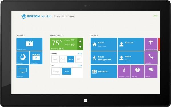 Windows Tablet   Scenes and Thermostat