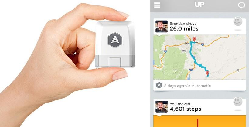 Automatic pipes driver data into Jawbone UP app