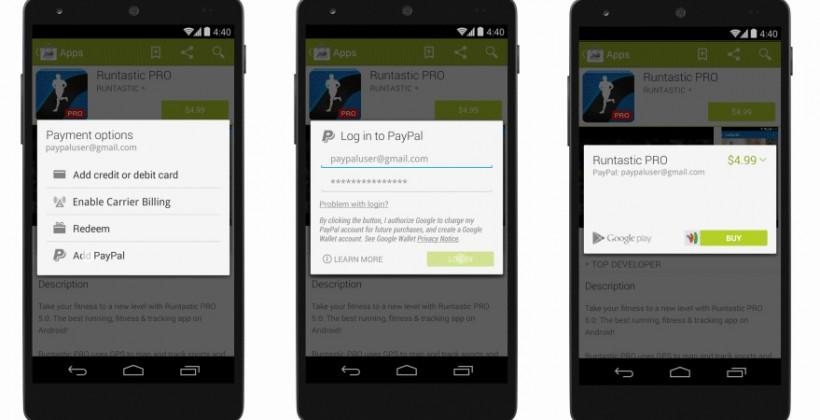 Google adds PayPal to Google Wallet for Android downloads