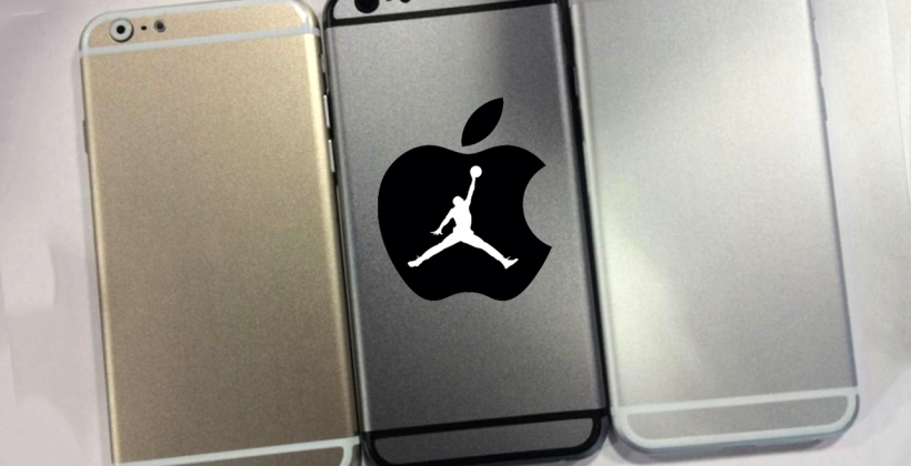 Gold iPhone 6 dummy detailed aside Space Gray, Silver