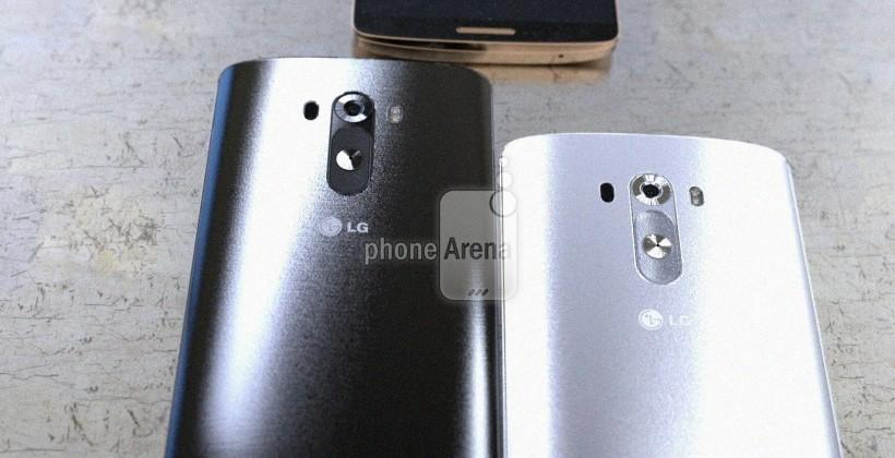 LG G3 detailed in silver, black, and gold