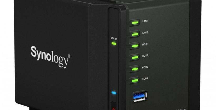Synology DS414slim updates notebook-drive NAS