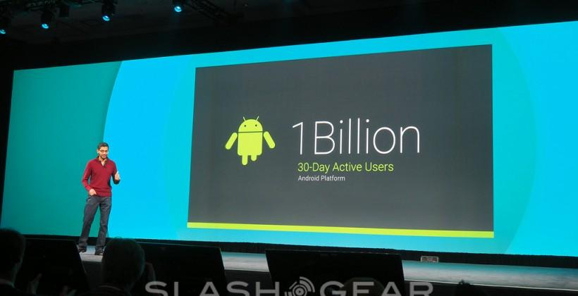 One Billion Android active users as Google I/O 2014 begins