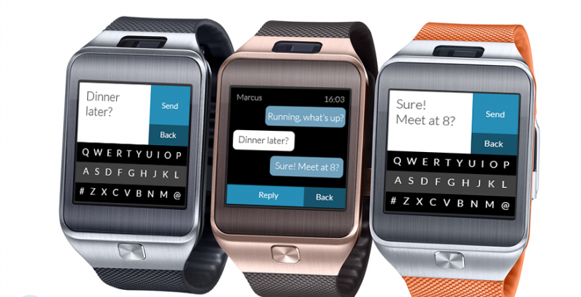 Fleksy Messenger now available for the Samsung Gear 2