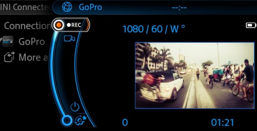 BMW and MINI bake in GoPro support