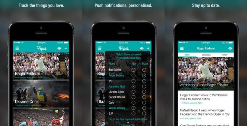 Pipes is a crafty news app for your iPhone