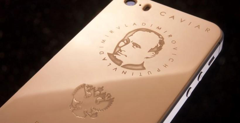 Caviar gold-plated iPhone 5s engraved with Putin's head