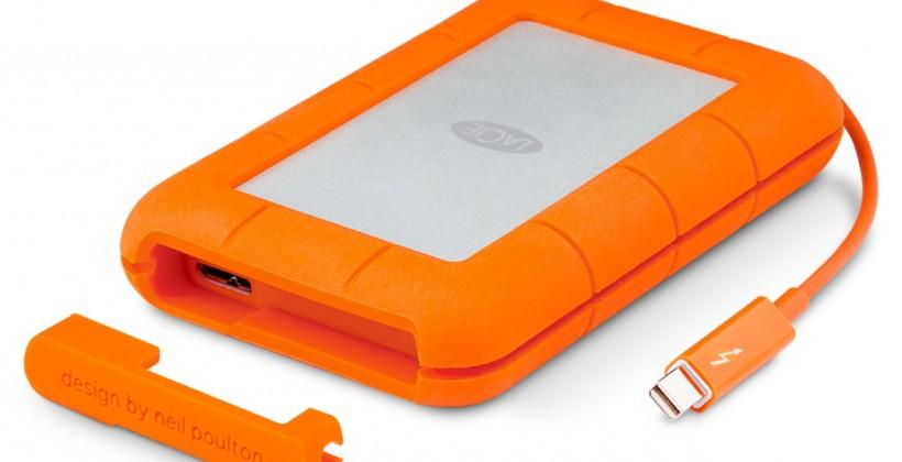LaCie Rugged drive gets Thunderbolt/USB 3.0 update