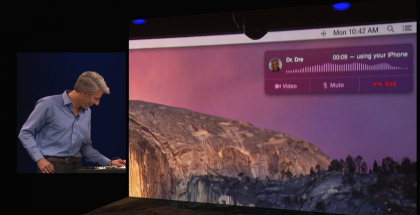 Dr Dre speaks with Apple onstage at WWDC 2014