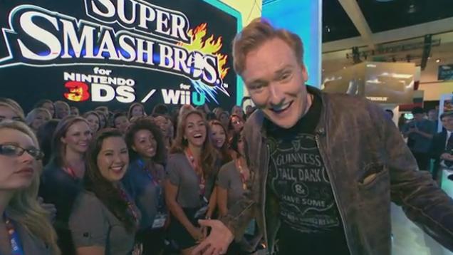 Conan O'Brien plays the clueless gamer at E3