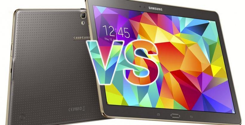 Galaxy Tab S 10.1 VS Pro VS Note 12.2